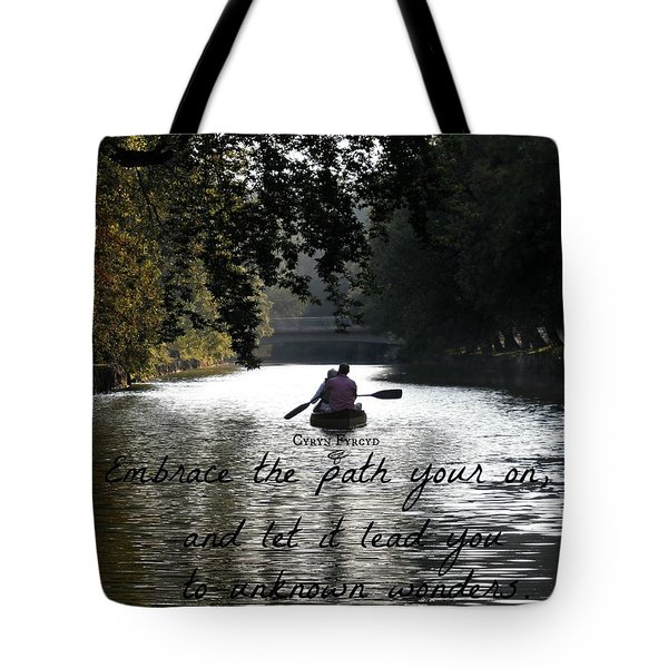 Embrace Your Path Tote Bag