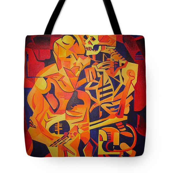 Embracing Death Tote Bag