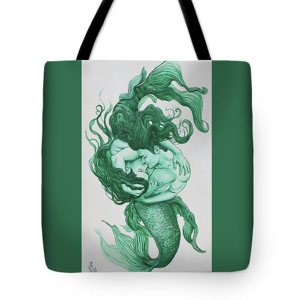 Embracing Mermen Tote Bag