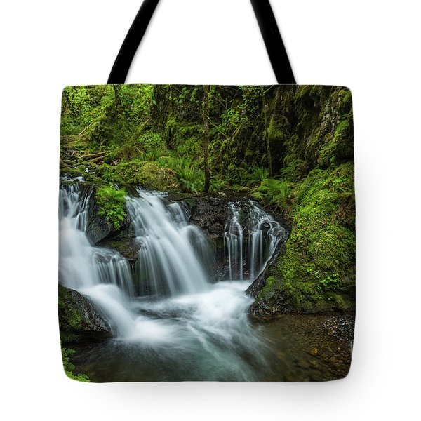 Emeral Falls Waterscape Art By Kaylyn Franks Tote Bag