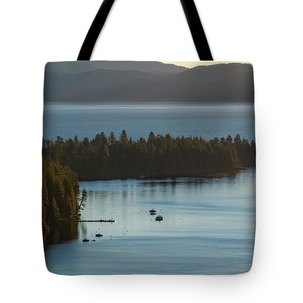 Emerald Bay Channel Tote Bag
