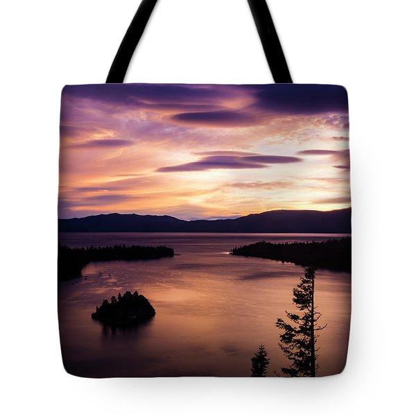 Emerald Bay Sunrise - Lake Tahoe, California Tote Bag