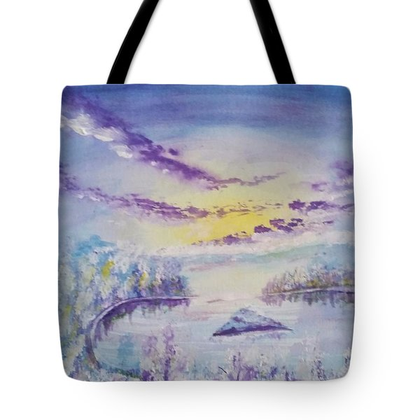 Emerald Bay Winter Tote Bag by Carol Duarte