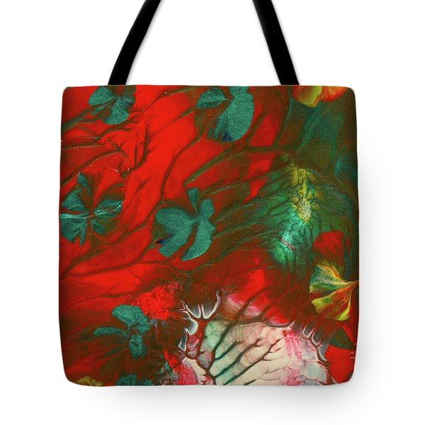 Emerald Butterfly Island Tote Bag