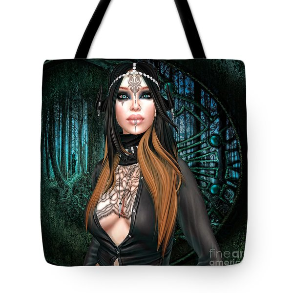 Emerald Cabachon Tote Bag