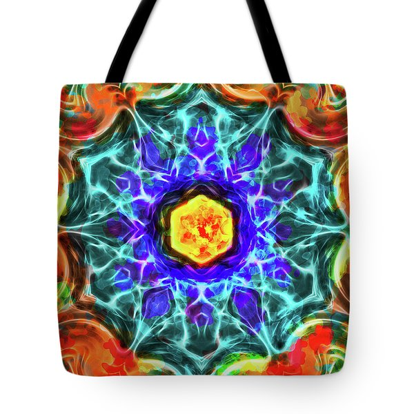Emerald Circle Mandala Tote Bag