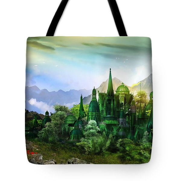 Emerald City Tote Bag by Mary Hood