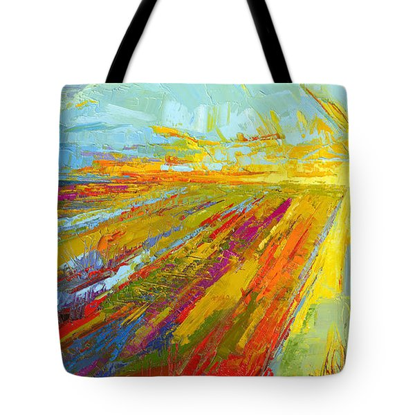 Emerald Dreams Modern Impressionist Oil Painting  Tote Bag