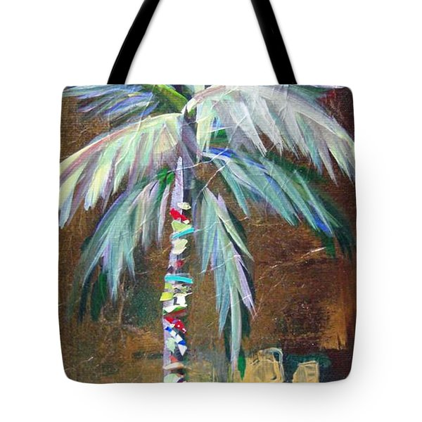 Emerald Fire Palm  Tote Bag
