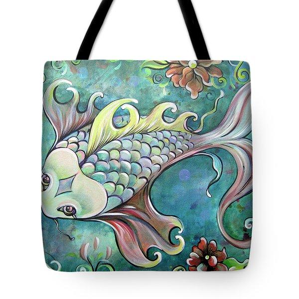 Emerald Koi Tote Bag