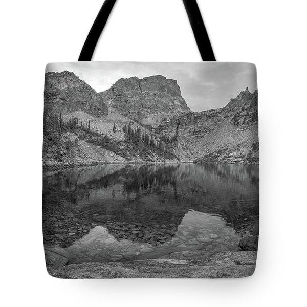 Emerald Lake Bw Panorama  Tote Bag