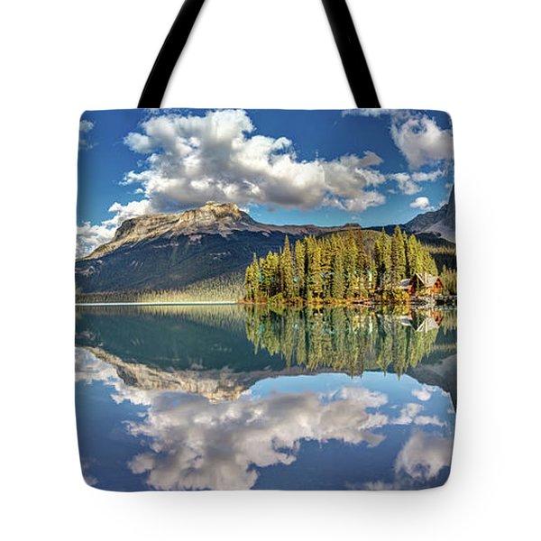Emerald Lake Panorama Tote Bag
