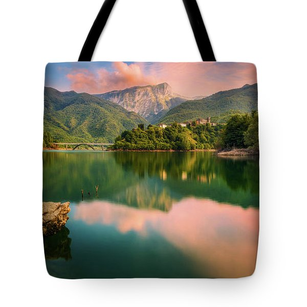 Emerald Mirror Tote Bag