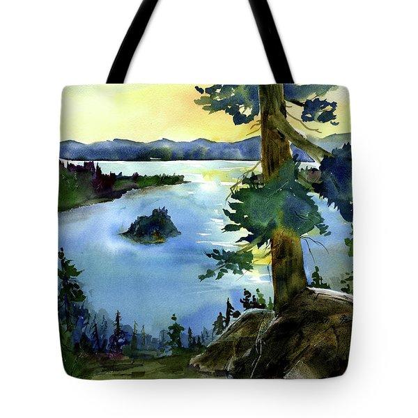 Emerald Morn, Lake Tahoe Tote Bag