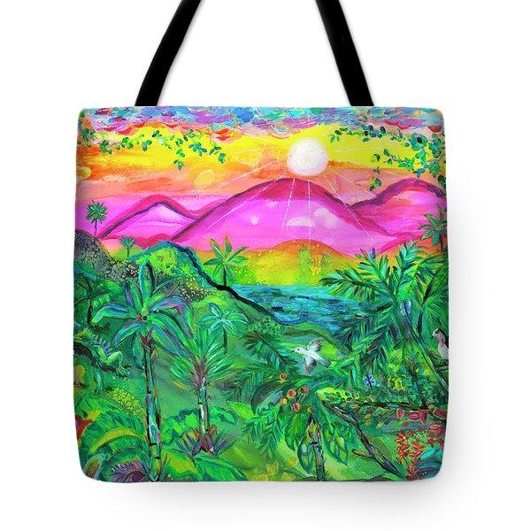 Emerald Morning Tote Bag