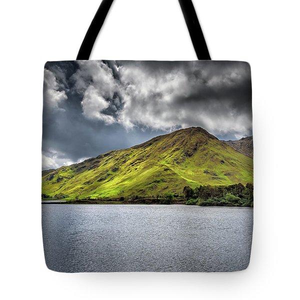 Emerald Peaks Tote Bag