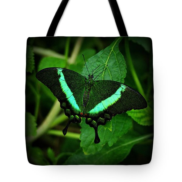 Emerald Swallowtail Tote Bag
