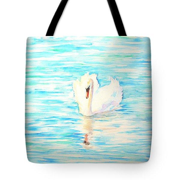 Emerald Swan Tote Bag