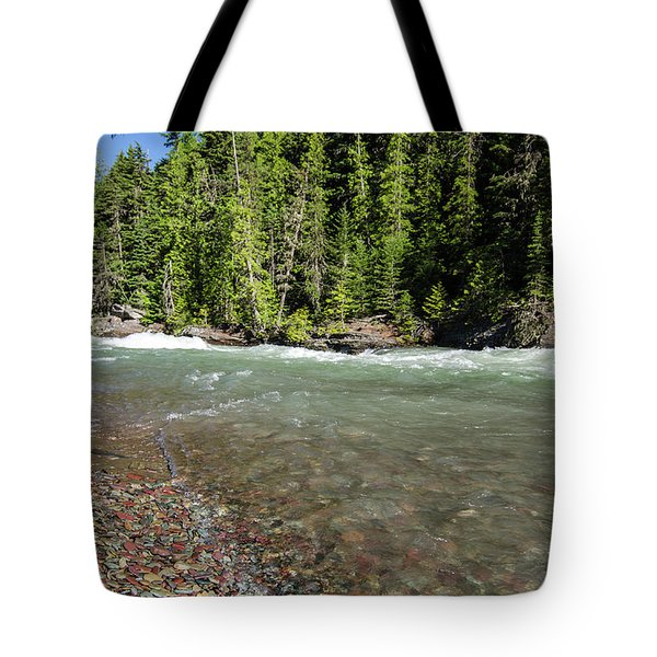 Tote Bag featuring the photograph Emerald Waters Flow by Margaret Pitcher
