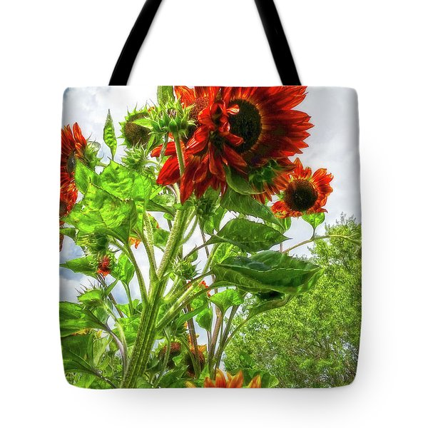 Emeralds And Fire Tote Bag