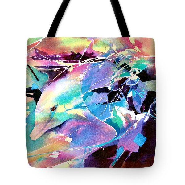 Tote Bag featuring the painting Emergence by Rae Andrews