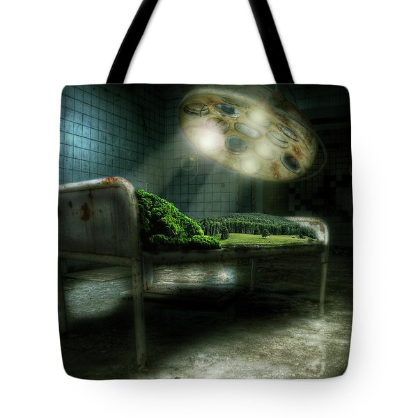 Tote Bag featuring the digital art Emergency Nature  by Nathan Wright