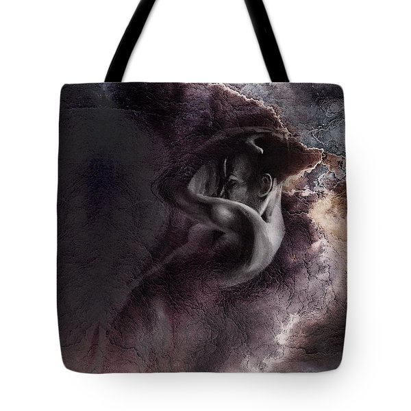 Emergent 1b - Textured Tote Bag by Paul Davenport