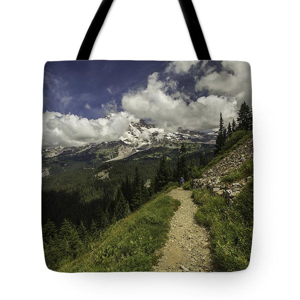 Emerging Above Timberline Tote Bag