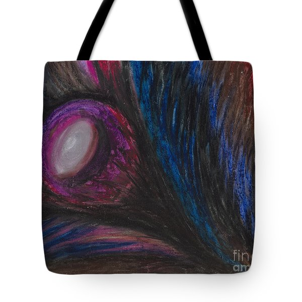Tote Bag featuring the painting Emerging by Ania M Milo