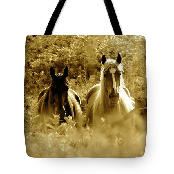 Emerging From The Farm Tote Bag
