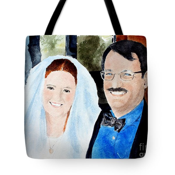 Emily And Jason Tote Bag