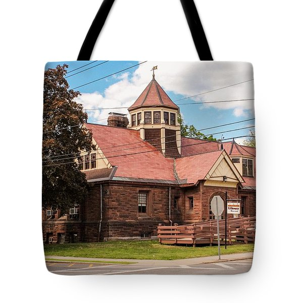 Tote Bag featuring the photograph Emily Williston Memorial Library And Museum by Sven Kielhorn