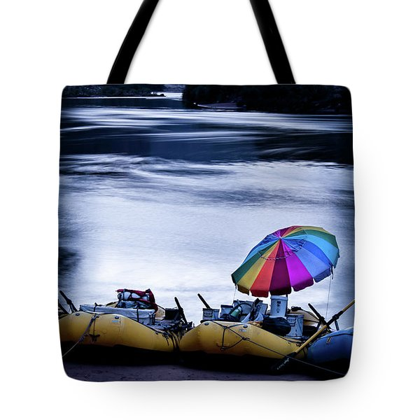 Tote Bag featuring the photograph Eminence Camp Umbrella  by Britt Runyon