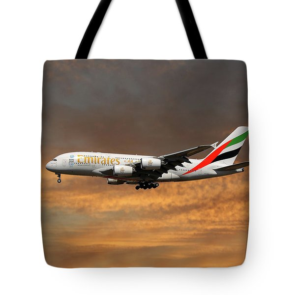 Emirates Airbus A380-861 3 Tote Bag
