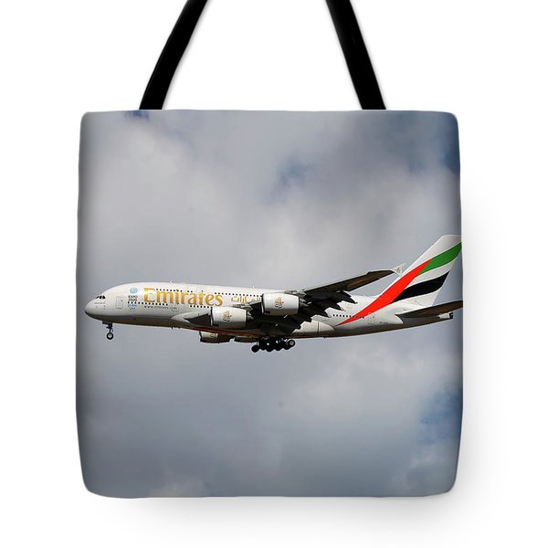 Emirates Airbus A380-861 5 Tote Bag