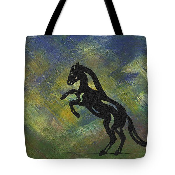 Emma - Abstract Horse Tote Bag