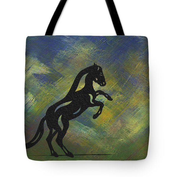 Emma II - Abstract Horse Tote Bag