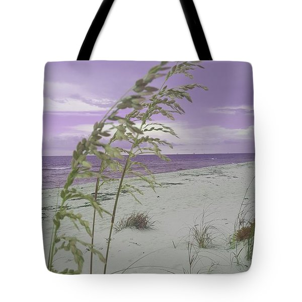 Emma Kate's Purple Beach Tote Bag