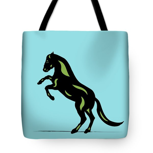Emma - Pop Art Horse - Black, Greenery, Island Paradise Blue Tote Bag
