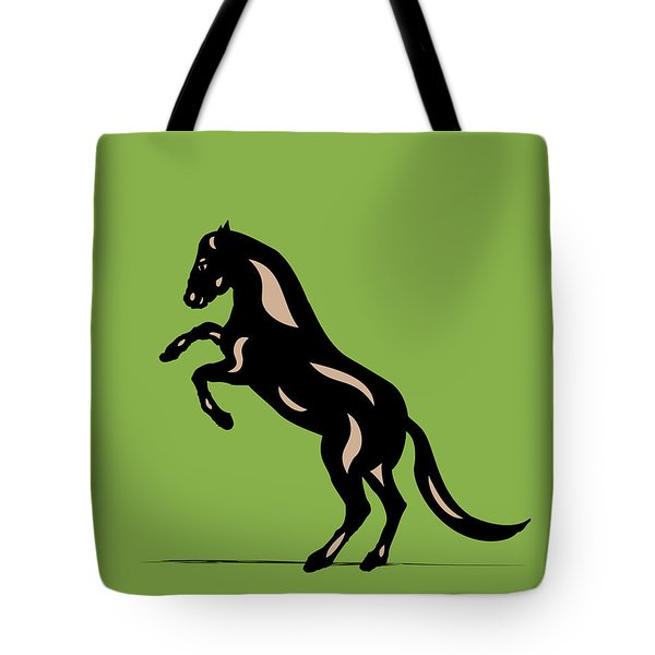 Emma - Pop Art Horse - Black, Hazelnut, Greenery Tote Bag
