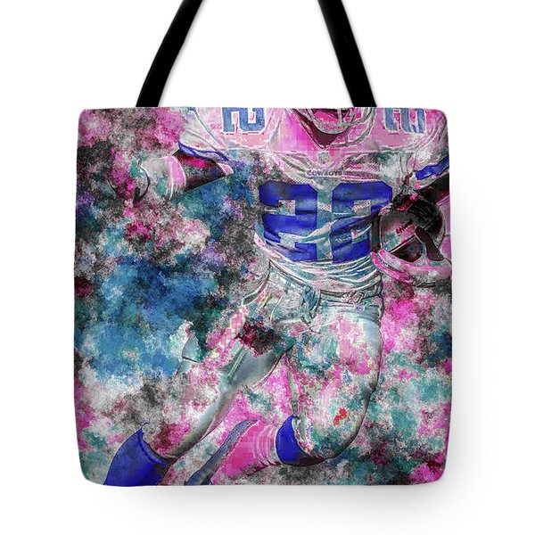 Tote Bag featuring the photograph Emmitt Smith Nfl Football Painting Digital  Es22 One by David Haskett