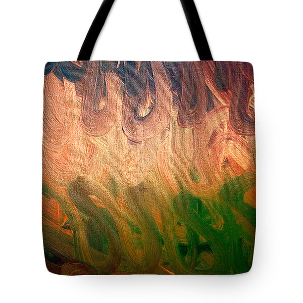 Emotion Acrylic Abstract Tote Bag