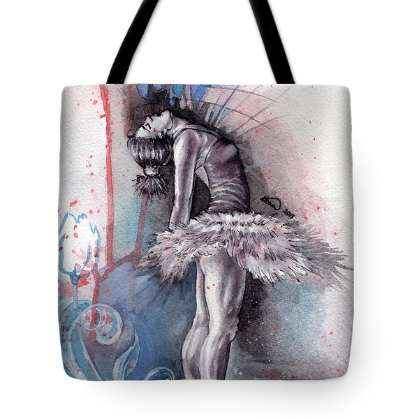 Emotional Ballet Dance Tote Bag