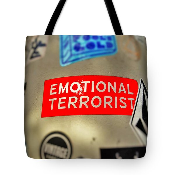 Emotional Terrorist In New York  Tote Bag