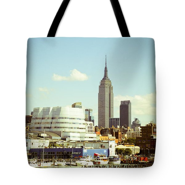 Empire State Building From Hudson Tote Bag