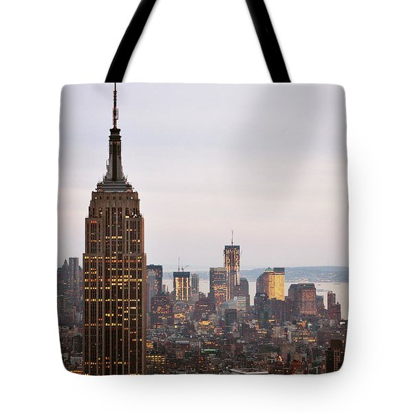 Tote Bag featuring the photograph Empire State Building No.2 by Zawhaus Photography