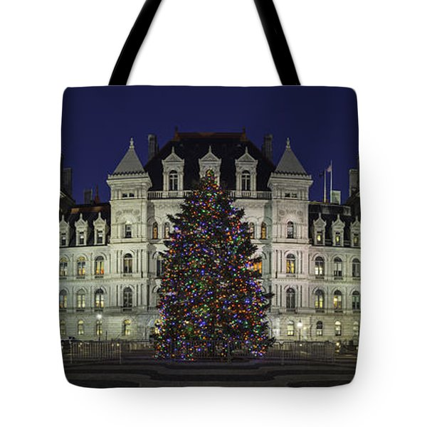 Empire State Plaza Holiday Tote Bag