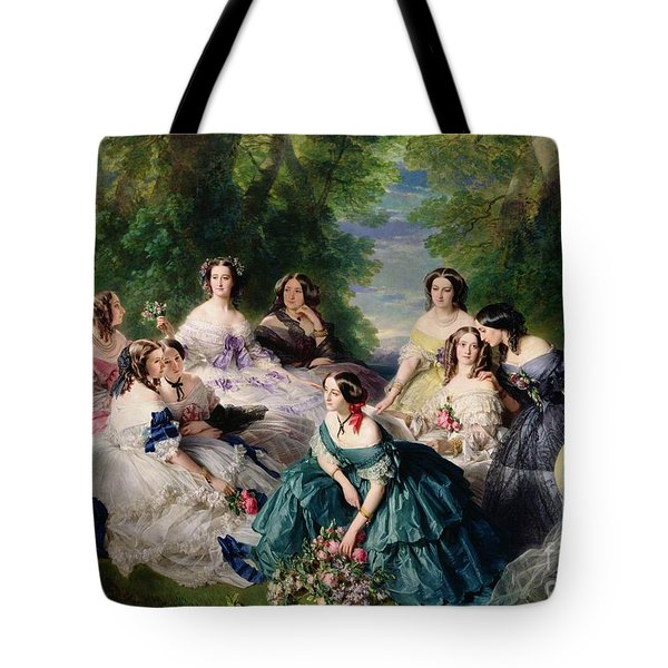 Empress Eugenie Surrounded By Her Ladies In Waiting Tote Bag
