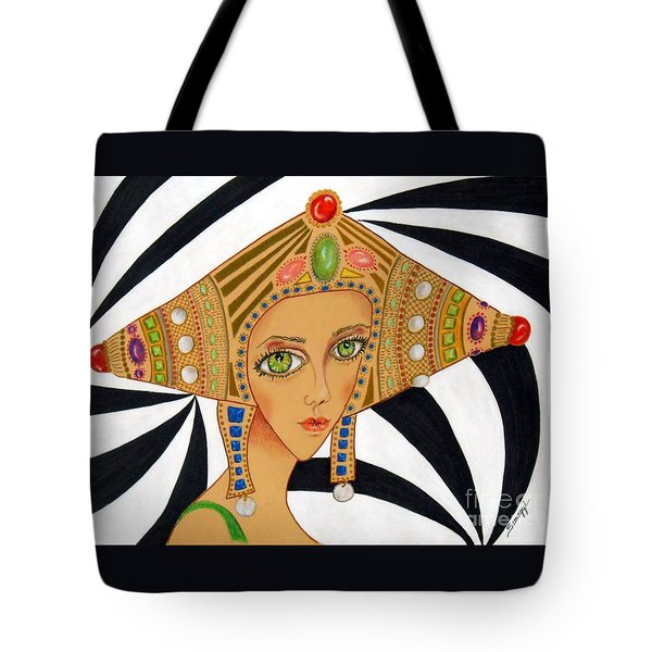 Empress Exotica -- Whimsical Exotic Woman Tote Bag