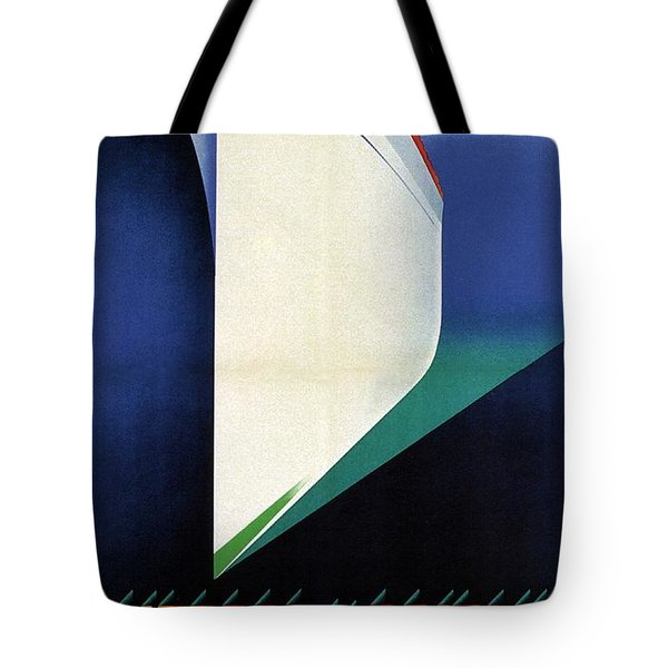 Empress Of Britain - Canadian Pacific - Steamship - Retro Travel Poster - Vintage Poster Tote Bag